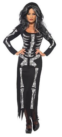 womens skeleton costume dress