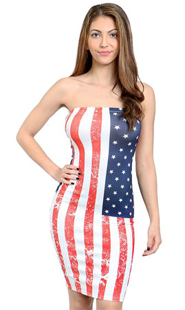 American flag bodycon dress 02