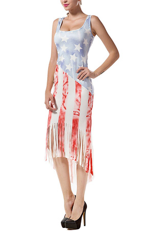 American flag bodycon tank dress
