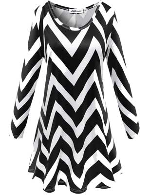 women's black-white Christmas dress