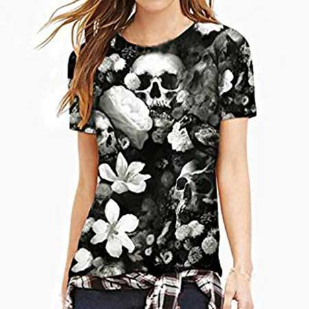 Native American Skull T Shirt