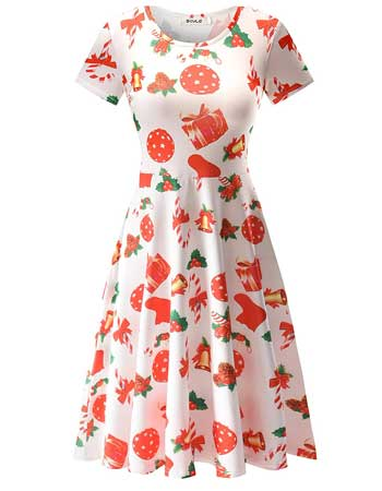 Womens Christmas swing Dress