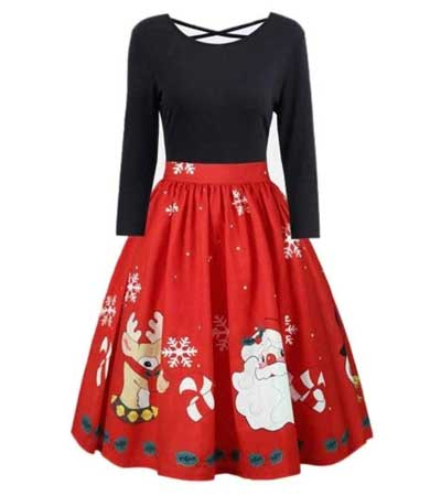 Christmas design swing dress