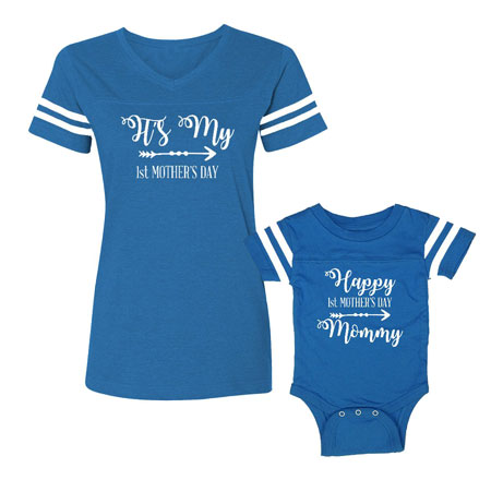 mother baby matching shirts