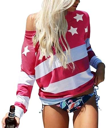American flag sleeve shirt