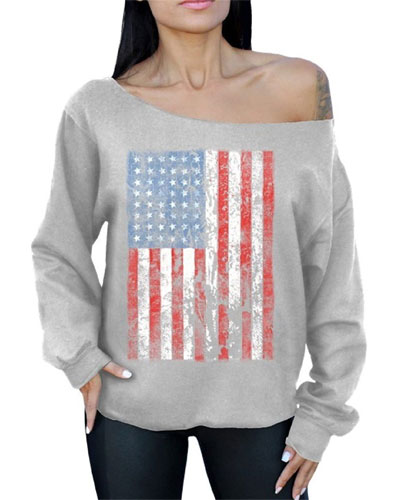 Best American flag sweatshirt