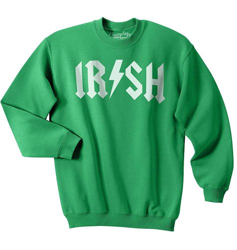 Irish Rockstar funny st patrick's day sweatshirts
