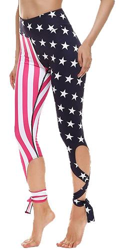 American flag print pants
