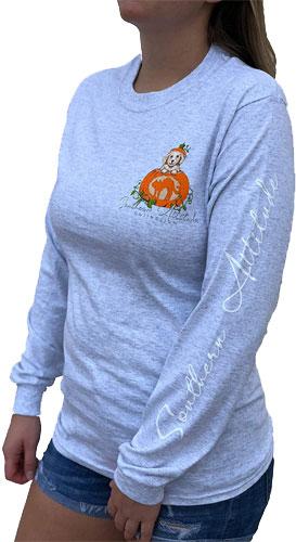 Southern Attitude Halloween Pumpkin shirt