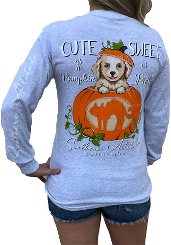 Southern Attitude long sleeve pumpkin shirt