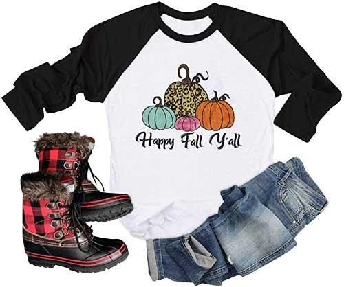 womens fall pumpkin shirts