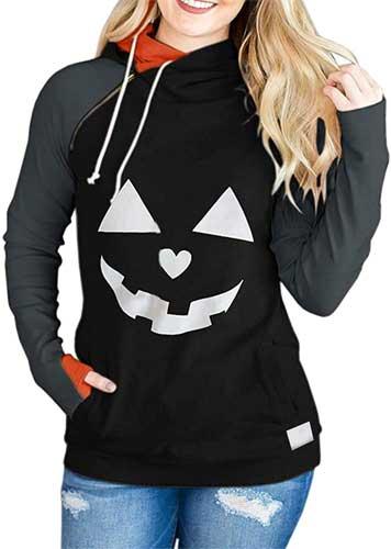 womens pumpkin shirt