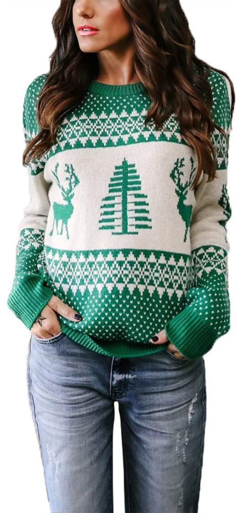 ugly christmas reindeer sweater