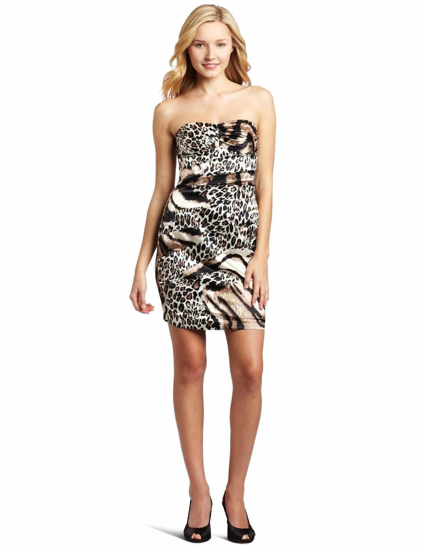 Strapless Animal Print Dress Strapless Animal Print